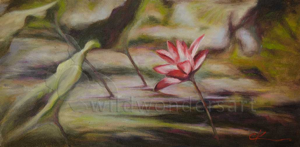 wetlands impressionist style painting