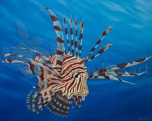 Flamboyant Lionfish 60cm x 80cm SOLD