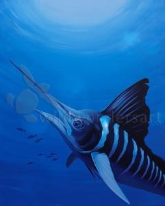 Striped Marlin 110cm x 70cm SOLD
